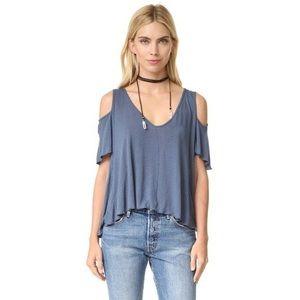 ❤️Free People❤️ Cold-Shoulder Short Sleeves Blouse